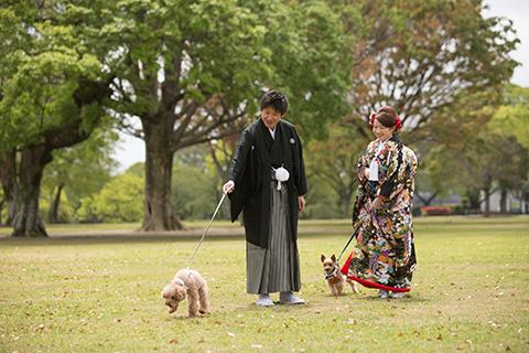 熊本│堤写真館│山口潤二/和装の結婚式前撮り