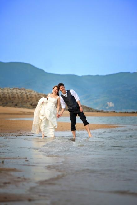熊本 堤写真館 結婚式 ウエディング 前撮り フォトグラファー 海 ロケーション撮影 カメラマン