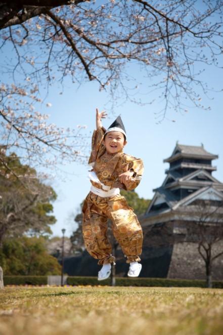 熊本 堤写真館 七五三 ロケーション撮影 熊本城 男の子