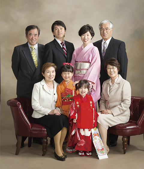 熊本 堤写真館 七五三 753 レンタル 着物 家族写真