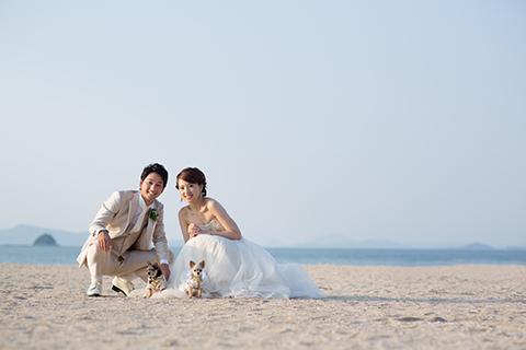 熊本 下通 堤写真館 フォト ウエディング 結婚式 前撮り 後撮り ロケーション撮影 海