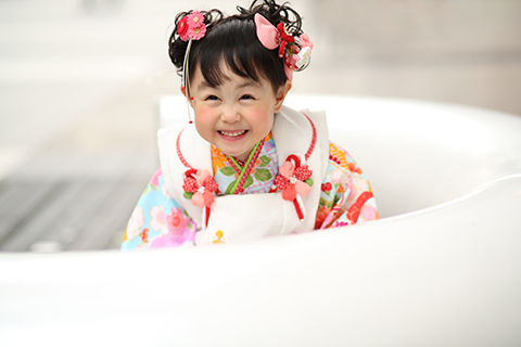 熊本 堤写真館 七五三 753 髪置 3歳 着物 レンタル 写真 女の子