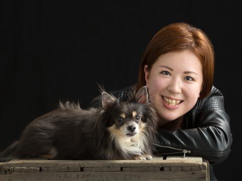 熊本 堤写真館 下通 ペット 犬 家族写真