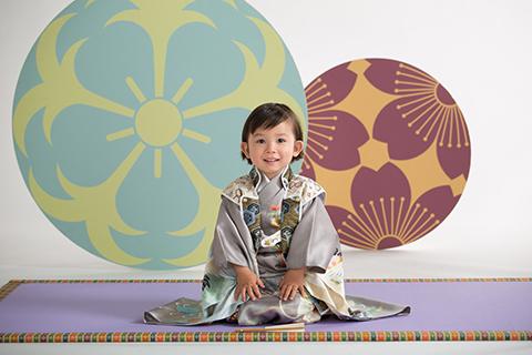 熊本 堤写真館 七五三 753 髪置 3歳 着物 レンタル 写真 男の子