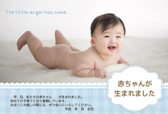 熊本 堤写真館 赤ちゃん 出産報告 子育て はがき ポストカード 暑中見舞い 残暑見舞い