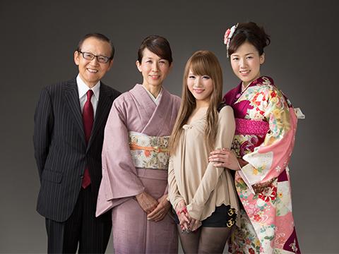 熊本 堤写真館 下通 成人式 振袖レンタル 家族写真