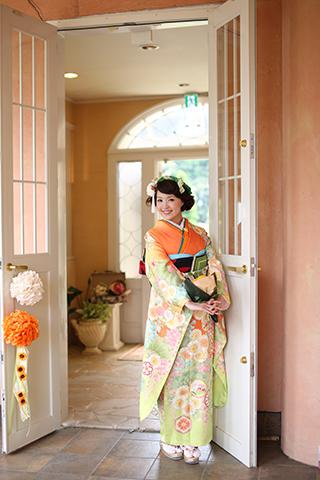 熊本 下通 堤写真館 振袖 レンタル 着物 成人式 20歳 二十歳 森の教会 前撮り 後撮り